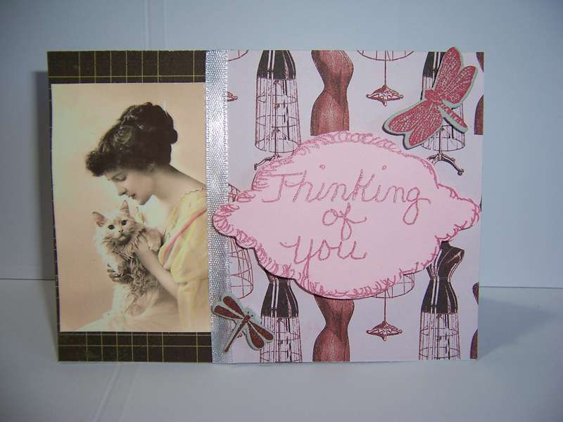 vintage thinking of you card