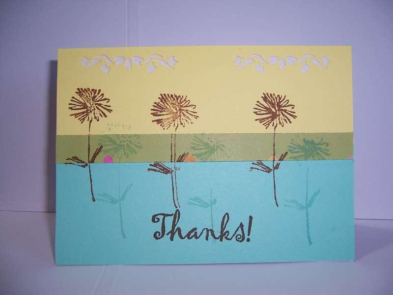 springy thank you card