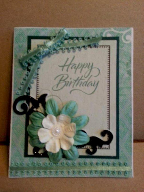 Teal Birthday Card 2