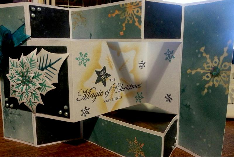 Tri-fold Christmas Card (Opened)