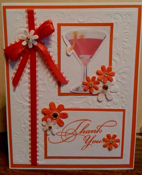 Orange/Cosmo Thank You Card