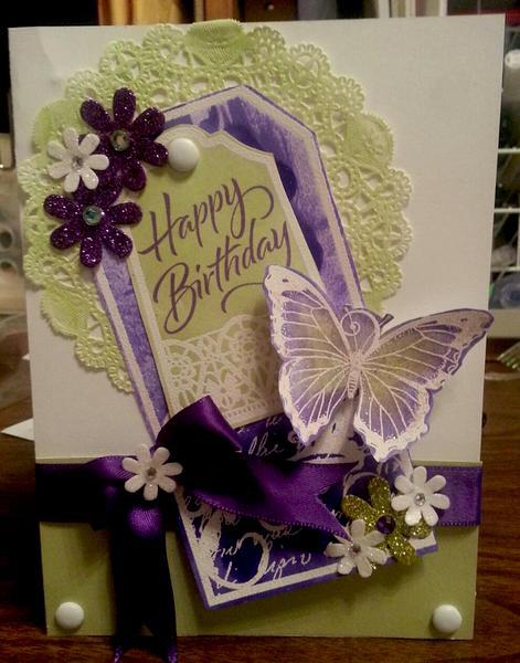 Purple and Green Birthday Card