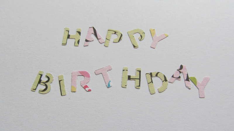 Happy Birthday Stripes - Inside
