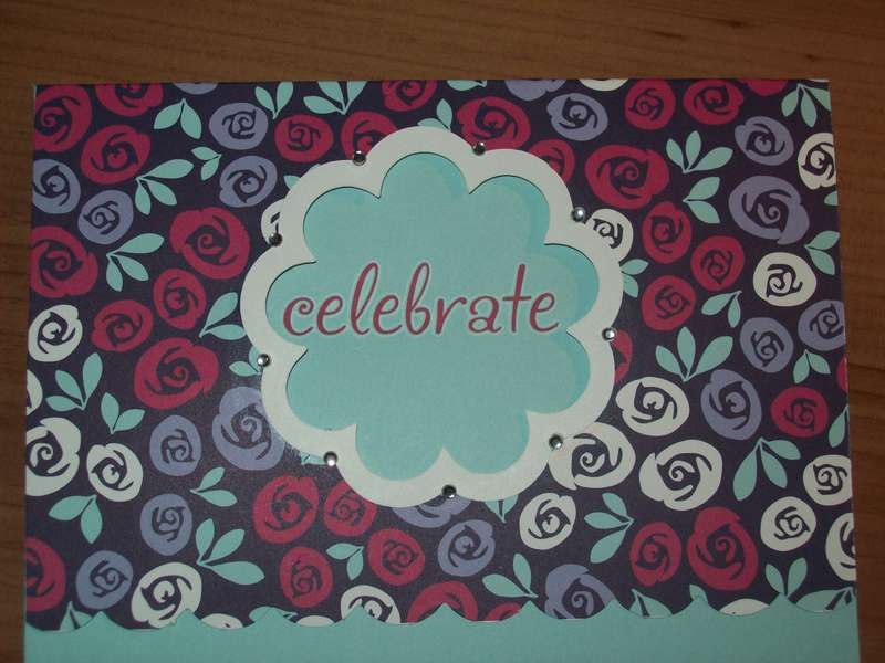 Rhinestone studded Celebrate