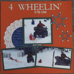 4-WHEELIN' in the snow