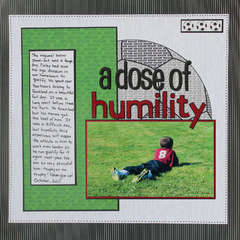 A Dose of Humility- Scrappin' Sports & More