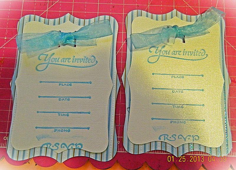 """ Baby Boy Shower Invitation """