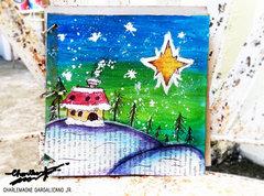 A frosty night art Journaling !!