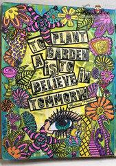 Believe in tomorrow art journal page