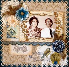 Grandma and Grandpa Oliver - DT October Sketch Challenge