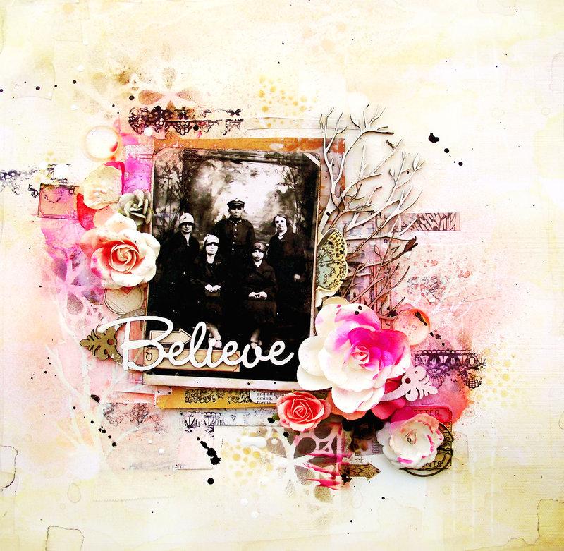 Believe layout - Blue Fern Studios
