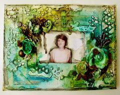 Stranger -  mixed media canvas
