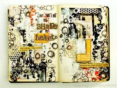 Shape of my heart - art journal