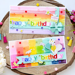 Rainbow birthday cards