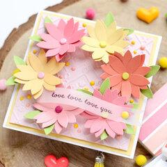 Love, love, love you card