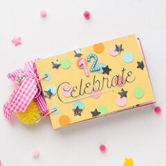 Birthday mini album from pocket cards