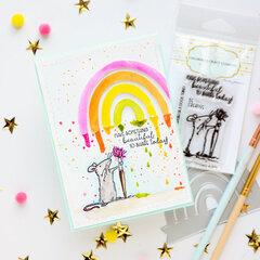 Rat and a rainbow card