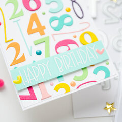 Card with numbers background