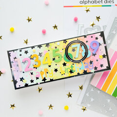 Interactive birthday card with changable number