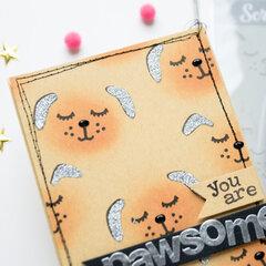 """Card """"You are pawsome"""""""