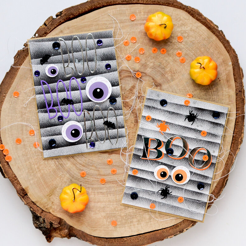 Spooky eyes cards