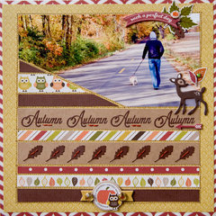 Autumn layout **Carta Bella**
