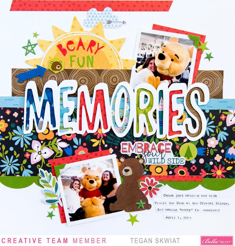Beary Fun Memories layout **Bella Blvd**