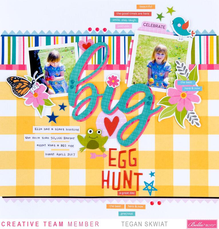 Big Egg Hunt layout **Bella Blvd**
