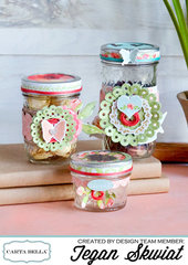 Glass Gift Jar Set **Carta Bella Paper**