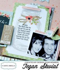 Love layout **Carta Bella Paper**