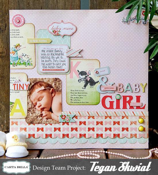"""Baby Girl"" Layout **Carta Bella**"