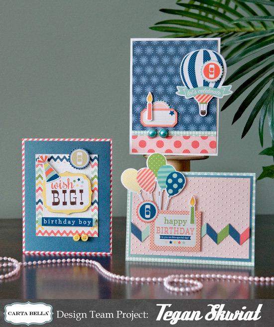 Birthday Card Trio  **Carta Bella**