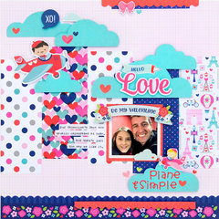 *Doodlebug Design* Love Plane & Simple layout