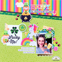 **Doodlebug Design** Happy St. Patrick's Day layout