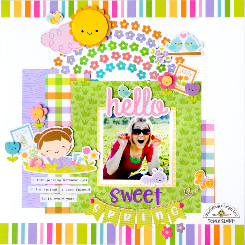 Hello Sweet Spring layout **Doodlebug Design**