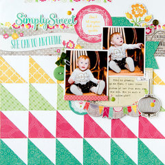 Simply Sweet layout **Echo Park Paper**