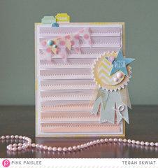 #Wish card  *Pink Paislee*