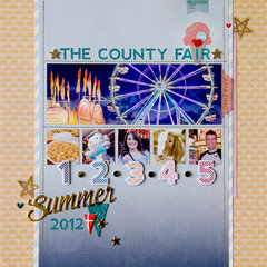 The County Fair layout **Pink Paislee**