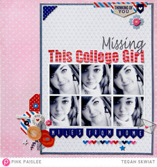 Missing This College Girl  **Pink Paislee**