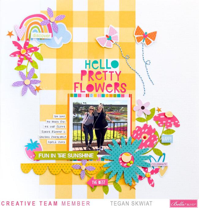 Hello Pretty Flowers **Bella Blvd** layout