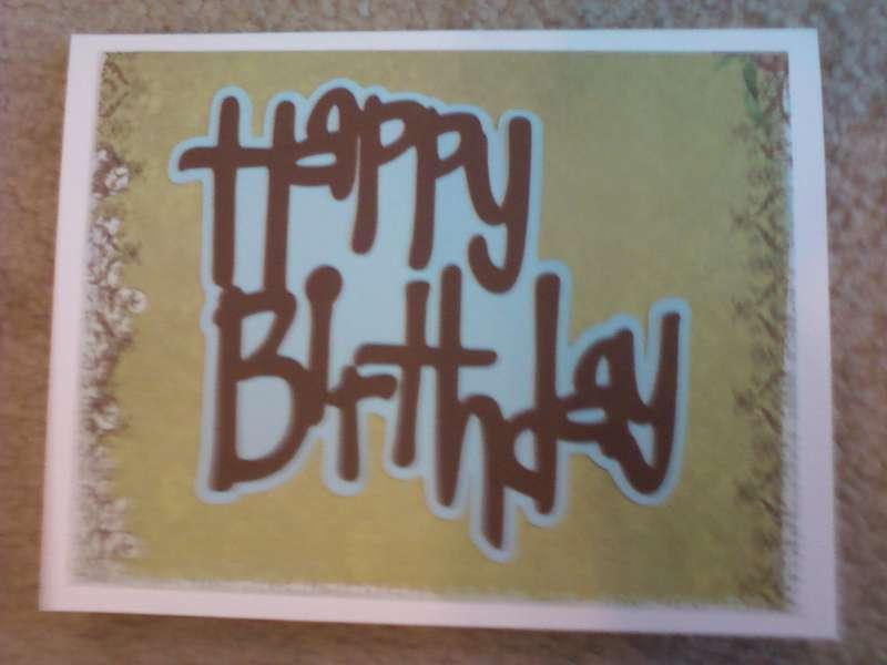Simple Happy Birthday from Cricut