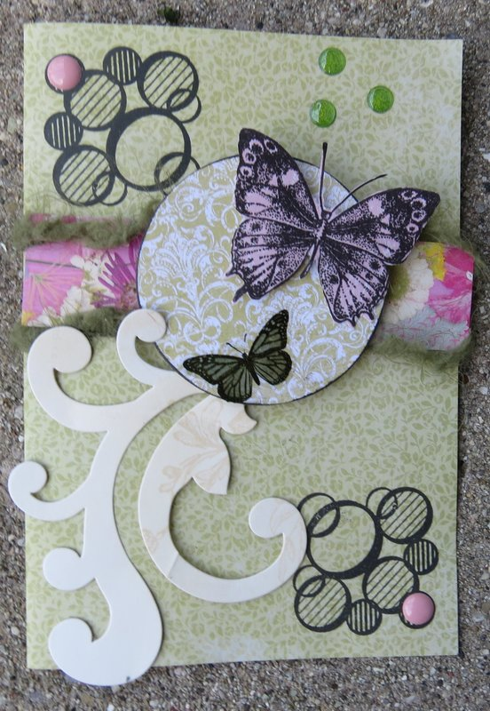 Butterfly card - august card sketch #4