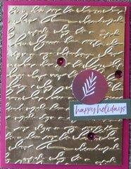 Metallic Christmas card