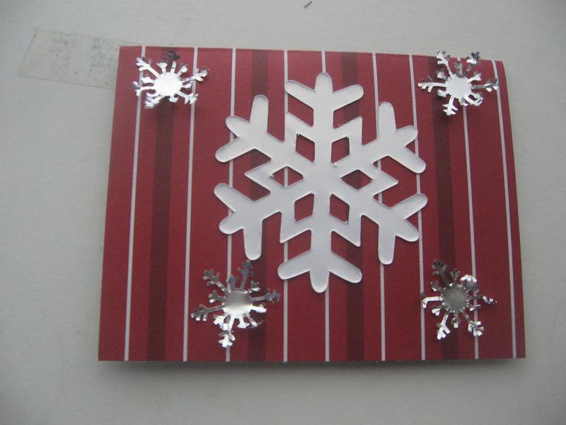 red/white snowflake