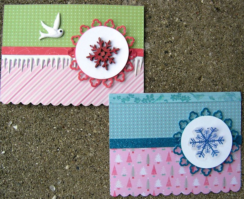 Snowflake cards --outside
