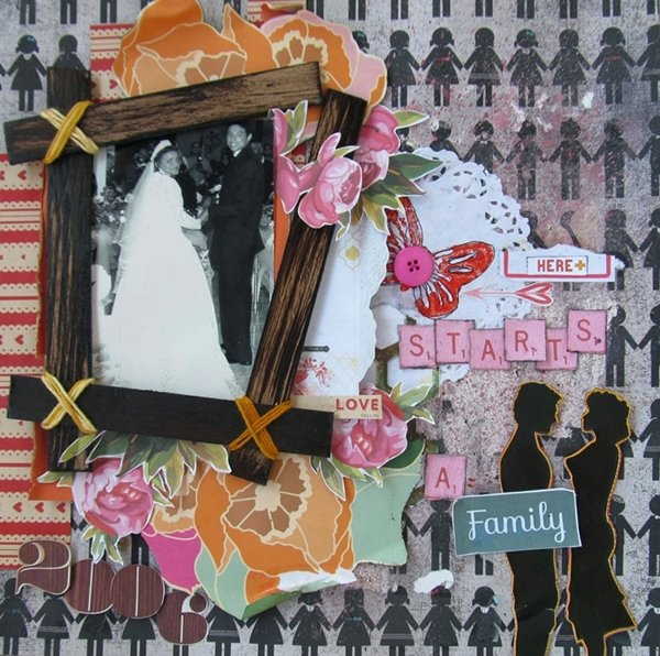 Guest Design-Scrap pelo Brasil ,Layout ~Family~