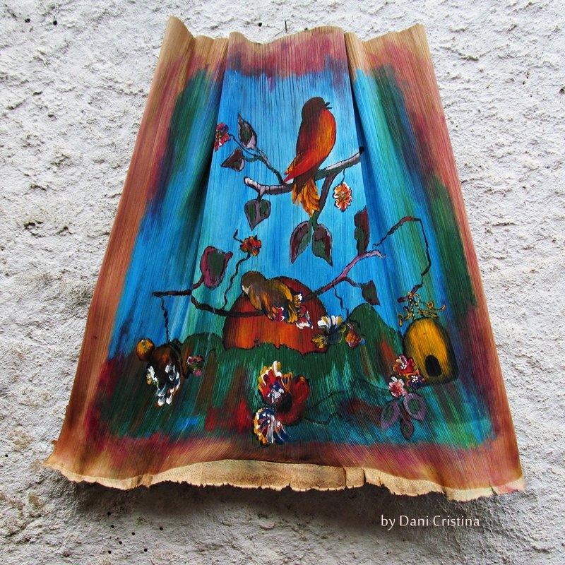 Pintura / Folha de Coqueiro - Home Decor