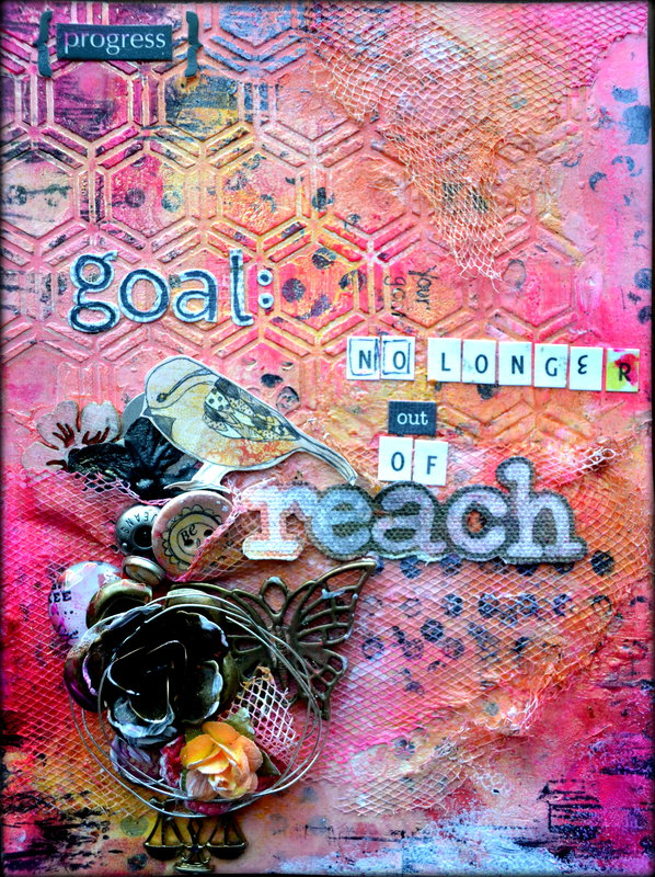 """Progress"" Art journal page *Flying Unicorn CT*"