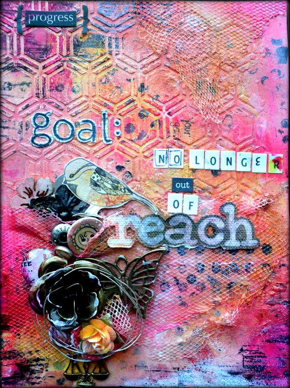 """""""Progress"""" Art journal page *Flying Unicorn CT*"""