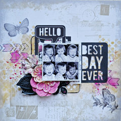 Magnifique Mixed Media Layout